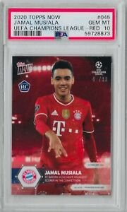 PSA 10🔥POP 4🔥 2020 TOPPS NOW #45 JAMAL MUSIALA RED ROOKIE #45/99 RC BAYERN