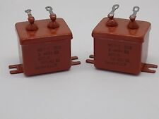2x MBGP-2 2uF  200V 10% PIO Capacitors МБГП-2 NOS Made in USSR