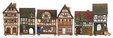 Ceramic houses tea light holders 'Street in Lauterbach' (6pcs) 22 cm, © Midene