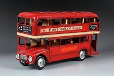 RED LONDON DOUBLE DECK BUS tin tinplate car blechmodell auto modellini handmade