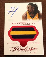 2013/14 Panini Flawless - Kenneth Faried Auto/Patch - 10/15 - Nuggets