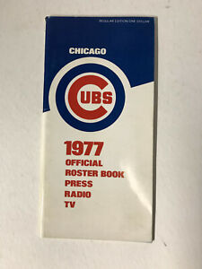 1977 Chicago Cubs Official Roster Book Press Radio TV Media Guide