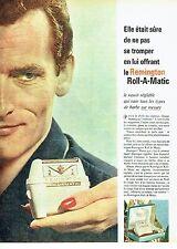 Publicité Advertising 087  1961  Remington  rasoir electrique Roll-A-Matic