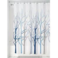 InterDesign Forest Fabric Shower Curtain, 183 x 183 cm - Blue Gray