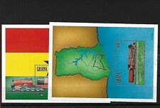 GHANA SGMS1683, 1992 RAILWAY MINI SHEET X 2, MNH