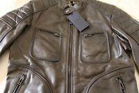 Belstaff Classic Weybridge Leather Jacket in Dark Olive/IT 44 or UK XS