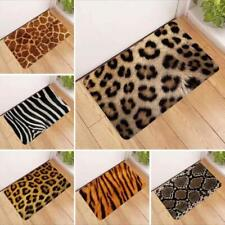 Zebra Animal Print Bath Bed Decor Carpet Area Rug Door Floor Mat kitchen Leopard
