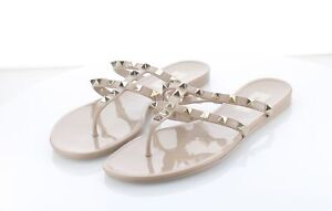 02-29 $450 Women's Sz 39 M Valentino Rockstud Jelly Double Strap Thong Sandals