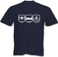 COMER DORMIR Cycle - Hombres Camiseta Divertida Bicicleta Ciclismo Bici Montaña