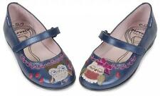 GARVALIN GIRLS EUR 26/AUS 8.5 NAVY BLUE OWL SHOES  ~ NEW*SO CUTE*