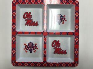 NCAA 4-Section Server Chip Tray Alabama UK Florida Texas A&M WV Auburn Ole Miss