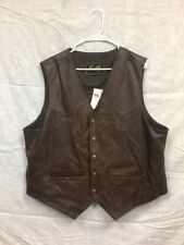 Scully Men's Brown Lamb Leather Vest New w/ Tags Size XXL Western Wear Cowboy
