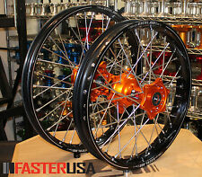 KTM MOTOCROSS WHEELS KTM450SXF 15-18 SET EXCEL A60 RIMS FASTER USA HUBS NEW