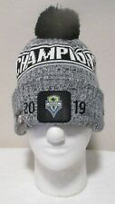 NWT New Era Seattle Sounders FC 2019 MLS Cup Champions Knit Hat OSFA Grey $35