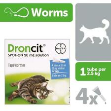 DRONCIT VERMIFUGE SPOT-ON TRAITEMENT CHAT 4 PIPETTES DE 2.5 a 5 KG cat katze