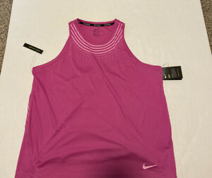 Nike Dry Pink Shirt Dri-Fit Pink Women's Size: L NWT Tank Standard Fit