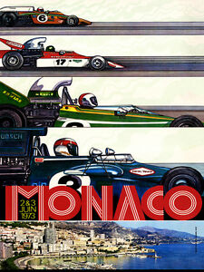 MONACO 1973 GP RACE PRINT A3 OR A2