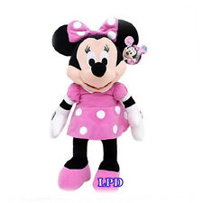 """MINNIE MOUSE CLUBHOUSE MINNIE MOUSE PLUSH DISNEY 15"""" PINK DRESS New Stuffed Toy"""