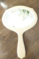 Vintage French Ivory Handheld Mirror