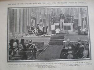 King Edward VII requiem for Carlos I Portugal 1908