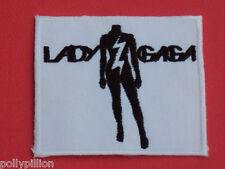 LADY GAGA AMERICAN POP MUSIC SINGER WHITE & BLACK HEADLESS SEW/IRON ON PATCH