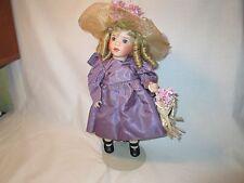 "Wendy Lawton Original Porcelain Doll 13"" Lavender COA Limited Edition 1990"
