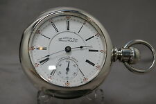 RARE 1910 AMERICAN STAR 2-TONE(ONLY 3130 MADE) ILLINOIS POCKET WATCH 21J, RUN