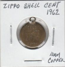 (L)  Token - Zippo Shell Cent - 1962 - 10 MM Copper