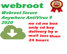 Webroot SecureAnywhere AntiVirus 9 1 YEAR / 1 PC (CD KEY)