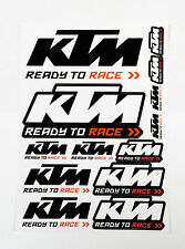 NEW KTM OFFICIAL LOGO STICKER SHEET EXC SX XC MINI JR SR EXC UPW1570800