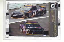 2017 Donruss Racing Gold Parallel Card #112 - Denny Hamlin  197/499