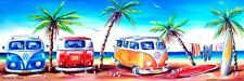 Kombi Club Summer Cruising Beach Scene 120cm Made in Australian Combi Print