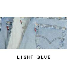 Jeans da uomo blu affusolati, taglia 44