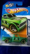 Hot Wheels Custom '69 Chevy Pickup Truck HW City Works '12 Green