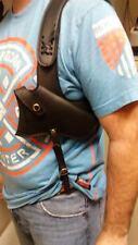 Genuine Leather Shoulder Holster Black Fits Most 38/357  (Right)