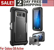Samsung Galaxy S8 Active Case Belt Clip Heavy Duty Full Body Screen Protector