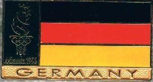 Nice Dated 1996 Atlanta German Flag Germany Olympic Team NOC Pin