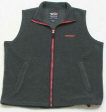 Vest Jacket Coat Gray Sleeveless Zipper Front Large Abercrombie Polyester Fleece