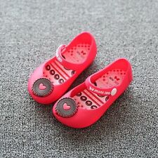 Cute Kids Girls Soft Lollipop Sandals Jelly Shoes Mary Jane Flats red 14.5 cm