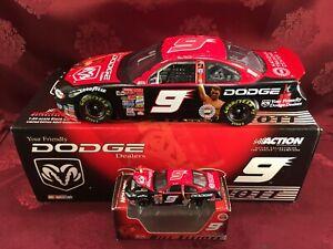 BILL ELLIOTT 2001 9 Dodge Dealers Muhammad Ali 1/24 Bank 1/64 HO Car Diecast SET