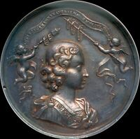 HUNGARY 1687 VERY RARE LARGE BEAUTIFUL SILVER MEDAL FOR INVESTITURE OF JOSEPH
