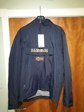Napapijri Men's Winter Jacket Rainforest Pocket fleece Lined Jacket 2XL in navy