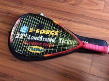 "eforce bedlam power lite 170 racquetball racquet 22"" grip 3 5/8 with case"