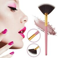 2x Fan Shape Makeup Brush Blending Highlighter Contour Face Powder Cosmetic Tool