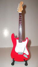 Guitare miniature Fender Stratocaster rouge Dire Straits