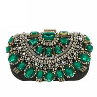 Elegant Women Clutches Handbags Black Beaded Evening Bags Wedding Clutch Handbag