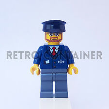 LEGO Minifigures - 1x trn222 - Train Conductor - Worker Omino Minifig Set 7907