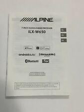 ALPINE  OWNER MANUAL FOR  Digital Media Receiver/Monitor  ILX-W650