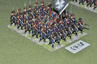 25mm napoleonic / prussian - landwher 35 figs metal painted - inf (6418)
