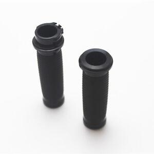 Black Aluminum Handlebar Hand Rubber Grip For Bike Touring Sportster XL883 Dyn